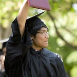 Alvin Anh-Vinh '09, with a bachelor of arts in Spanish in hand, savors the moment.