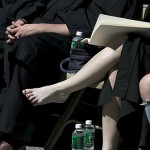 For some graduates, Commencement is a time for baring the sole (sorry!).