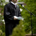 Stephen Lattanzi '08 of Winchester, Mass., reads a portion of the Class of 2008 Litany.