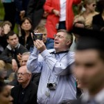 A family member captures the Baccalaureate moment.