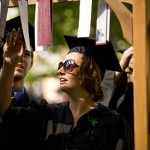 Graduates pass through a Baccalaureate archway at the conclusion of the service.