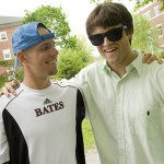Graduating seniors Will Boe-Wiegaard (left) and Joel Colony prepare to enjoy their last weekend.