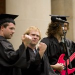 The 2007 Baccalaureate service, held on Saturday afternoon, includes a raucous Prelude by The Nancies, including (from left to right) Kevin Cox, Peter Granquist and Samuel Welles.
