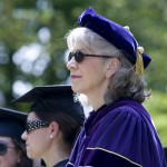 Sunglasses, worn by President Hansen and many robed seniors, were a must for the bright Saturday afternoon