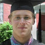 "Chris Urban of Monkton, Vt., says thanks to ""my professors Jane Costlow and Carl Straub, two inspirational people in the work they do on environmental issues. Outside of the classroom, just their presence has also been an inspiration for me. They've invited me to their homes, and I feel like I know them beyond teachers, but as friends. Genuine friends."" Chris graduated with a B.A. in environmental studies, with honors."