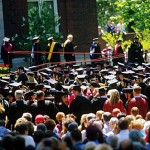 It was standing room only at the 2002 Commencement exercises: 2,500 people attended the festivities.