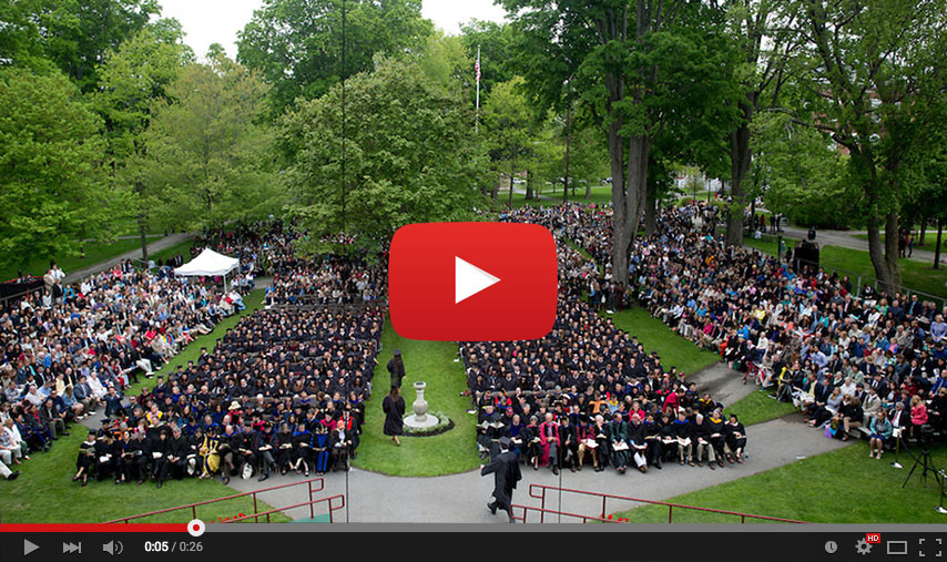 The Commencement ceremony will be broadcast live on Sunday, May 29, 2016, starting at 9:30 a.m.