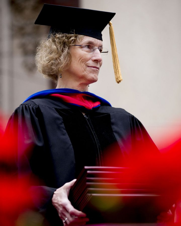 Bates Commencement, 2016, held on May 29, 2016. Civil Rights activist and U.S. Rep. John Lewis was the Commencement speaker and one of four recipients of honorary degrees during the ceremony, along with best-selling author Lisa Genova '92 (Still Alice); psychologist and renowned happiness researcher Daniel Gilbert; and Robert Witt '62, the highly successful chancellor of the University of Alabama System.  The 462 members of the Class of 2016 included three triple majors, 42 students who completed an honors thesis, and 18 who have won a combined 41 All-NESCAC honors while at Bates. President Clayton Spencer noted that the class included 11 recipients of Fulbright fellowships, two Watsons (both from Alaska), and two more of the Davis Project for Peace Award.