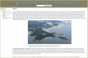 Bates Coastal Geology Research and Environmental Archive