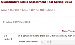 Quantitative Skills Assessment Test