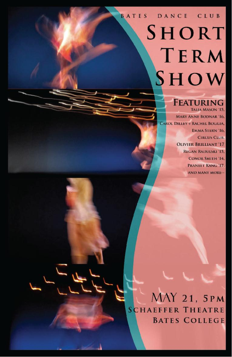 Dance Posters | College Bates Performance |