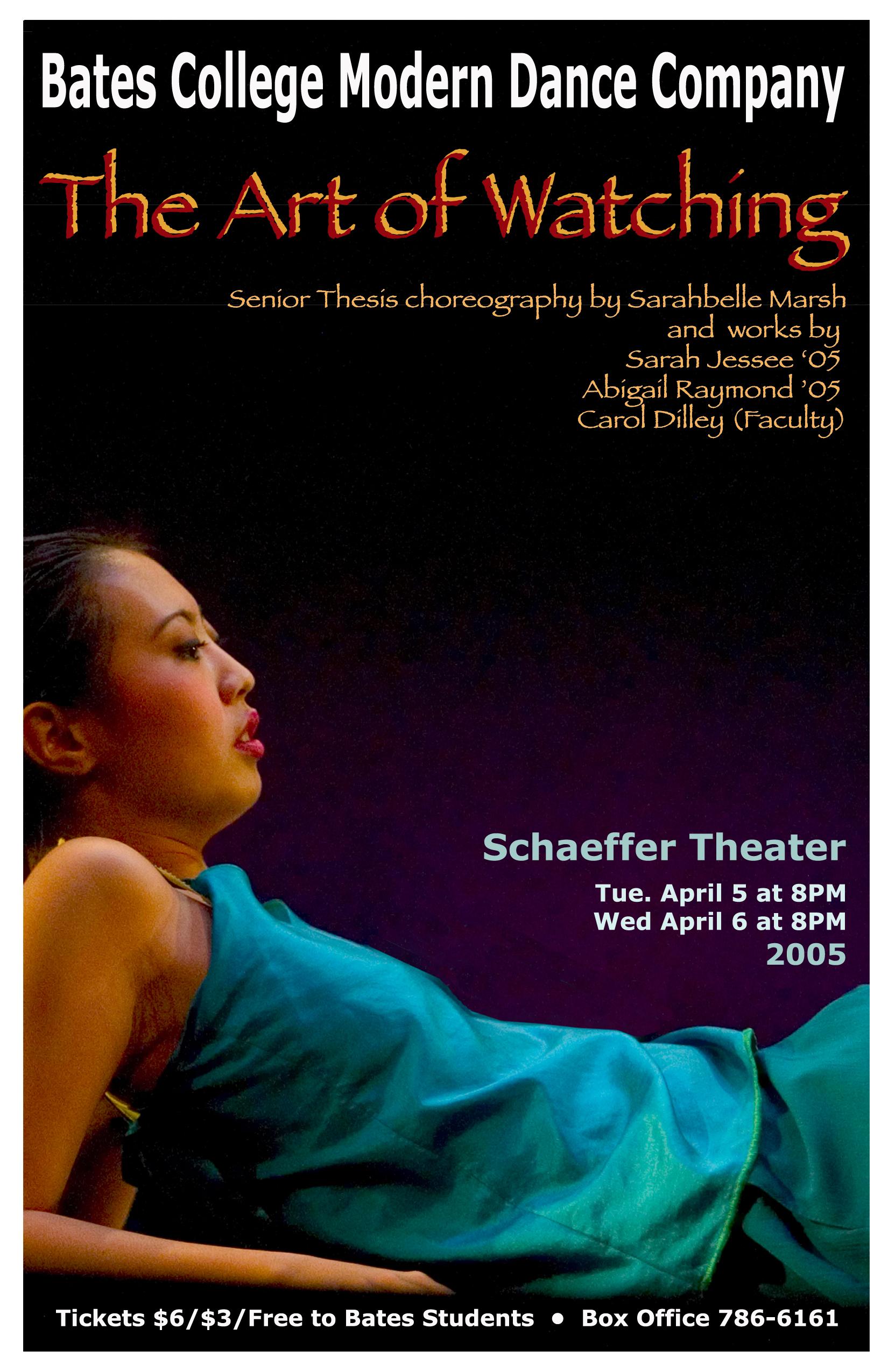 Spring Dance Concert '05 Poster