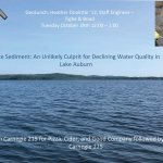 Geology Lunch 10/29/2019 – Lake Sediment: An Unlikely Culprit for Declining Water Quality in Lake Auburn