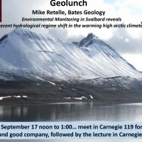 Geology Lunch 9/17/2019 – Environmental Monitoring in the Arctic