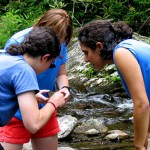 Andrea Wolfe with her students in the Smokies