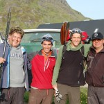 Poul Bjerge (left), Josh, Brian, and Finn Lunge (right). Poul is the founder and former caretaker of the agricultural school and research station in southern Greenland, while Finn is a former politician and priest who is now a indigenous rights activist and environmentalist.