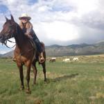Caroline Caldwell working at Zapata Ranch