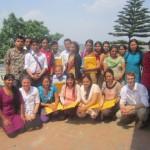 Hallie Grossman at a teacher training in Nepal