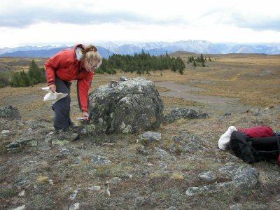 Moraine boulder sampling