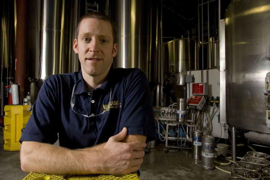 Jason Perkins '97 of Allagash Brewing Co. in Portland, Maine. (Phyllis Graber Jensen/Bates College)