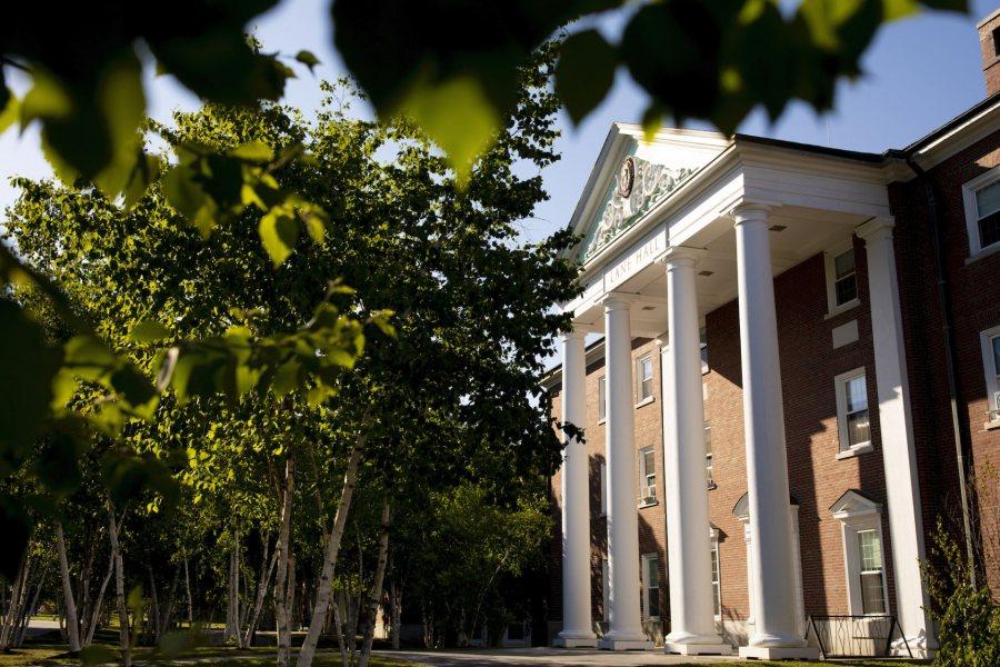 Campus scenes, evening of June 18, 2020. Lane Hall