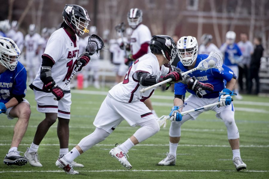 Men's Lacrosse defeats Hamilton 17-9 on Garcelon Field.