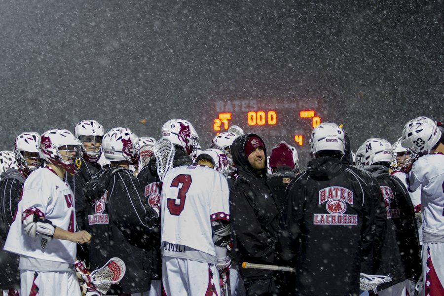 """When you look at how difficult this past winter was, it's important to realize that we didn't miss a single lacrosse game this season — men's or women's — because we have that superb facility."" —Kevin McHugh, director of athletics. (Sarah Crosby/Bates College)"