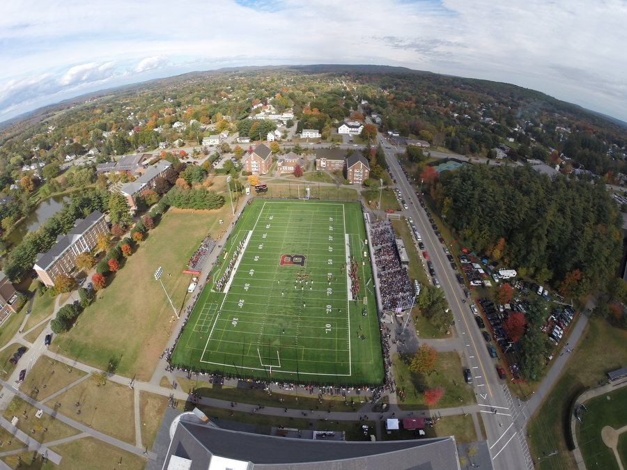 """Athletics always talks about being central to the life of the campus. That's where we want to be. With all of the athletic and non-athletic uses of the upgraded field, that's where we are."" — Kevin McHugh, director of athletics (H. Lincoln Benedict '09 for Bates College)"