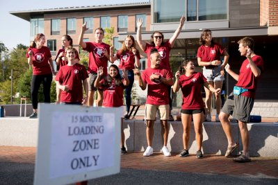 Move-In Day for the Class of 2022 at Chu and Kalperis halls.