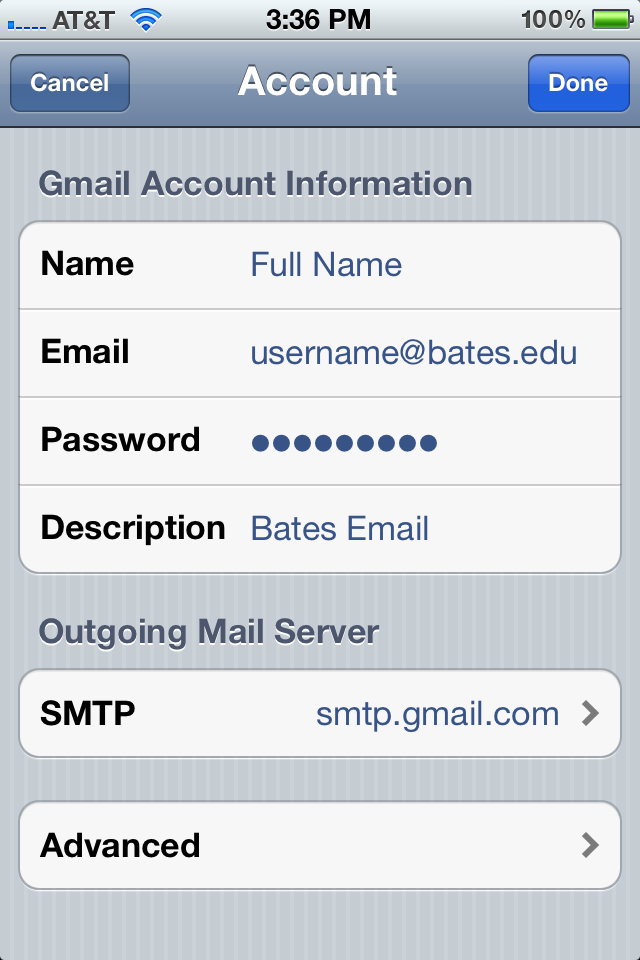 how to change email password on iphone changing your e mail password on the iphone information 4941