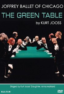 "Joffrey Ballet reconstruction of Kurt Jooss' ""The Green Table"" in the Bates DVD collection at GV1783.2 .G74 2013"