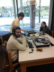 Spinning Vinyl in Audio at Bates College Library