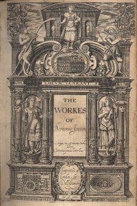 Jonson_1616_folio_Workes_title_page