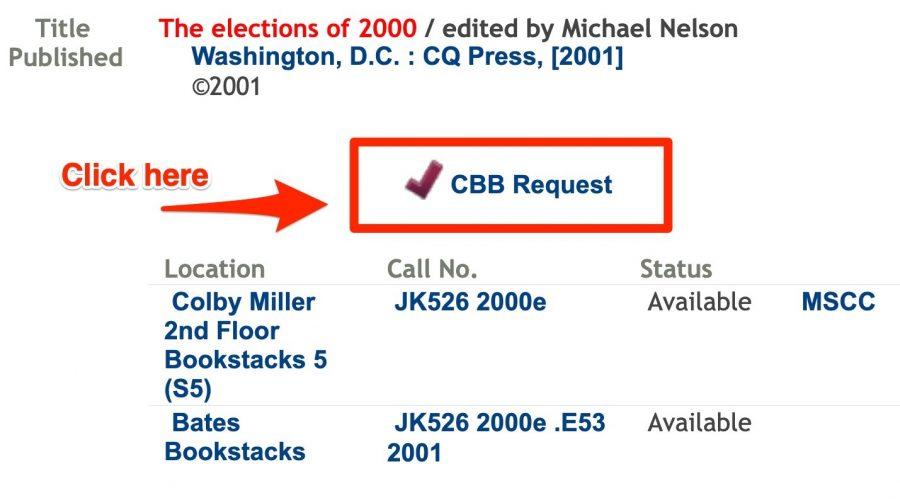 Click on CBB Request