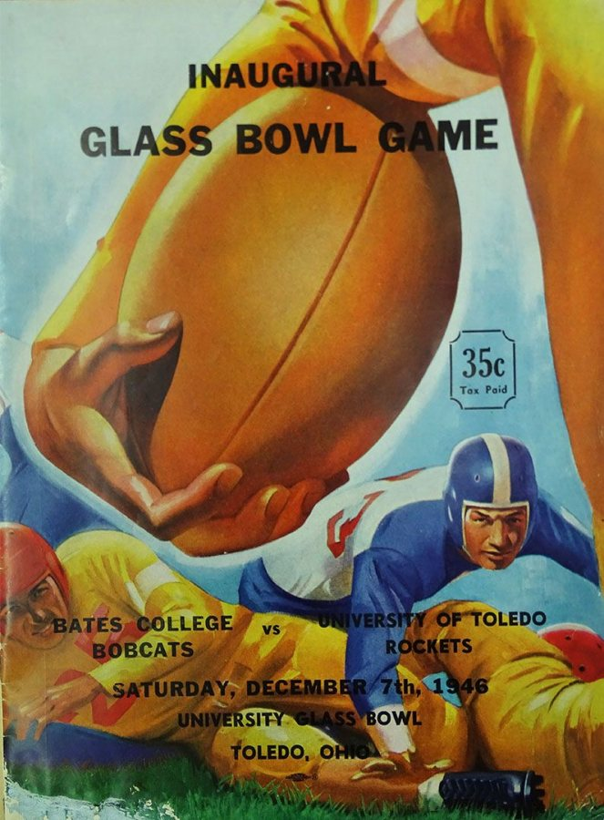 The cover of the 1946 Glass Bowl program. (Muskie Archives and Special Collections Library)