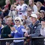 Loyal Bates fans rally for the men's soccer team. Connecticut College nipped Bates College 1-0 in a NESCAC men's soccer defensive battle at Russell Street Field.
