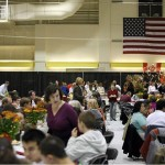 The Annual Parents & Family Weekend Harvest Dinner in Underhill Arena provides the best that Dining Services has to offer. Photograph by Louisa Demmitt '09.