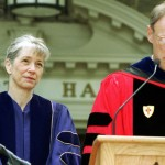 Haverford awarded Hansen an honorary doctor of letters degree at the school's Commencement May 19, with Haverford president Tom Tritton presenting the citation. Photo courtesy Haverford College