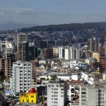 Modern Quito sits in a valley flanked by volcanic mountains.