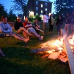 Or, it was time to hang out with friends, as did members of the Class of 1998, around the fire near Page Hall.