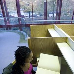 Ndlovu studies at the Robert W. Woodruff Library. The library serves member institutions of the Atlanta University Center, considered the world's largest and oldest consortium of historically black colleges and universities: Clark Atlanta University, the Interdenominational Theological Center, Morehouse College, Morehouse School of Medicine and Spelman College.