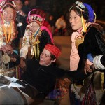 An evening in Zhong Lu ends with traditional dance and festivities. James Peckenham '08 is tossed by Tibetan women after their song and dance performance in the village of Zhong Lu.