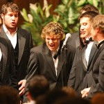 The current Deansmen got the Chapel concert going. Photograph by H. Lincoln Benedict '09.