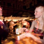Pete Klein '08 swing-dances with Aubrey Nelson '08.