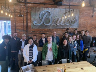 The Winter 2020 Differential Equations class visits Baxter Brewery