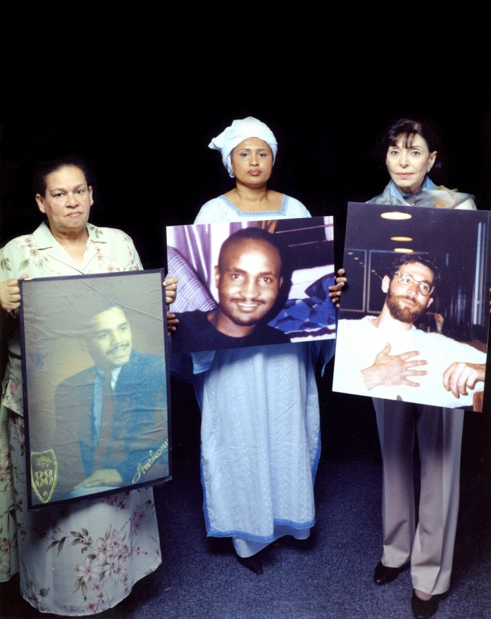 Every Mother's Son Caption: Iris Baez, Kadiatou Diallo and Doris Busch Boskey hold photos of their sons.     Credit: Anna Curtis     Photos are for press and private use only. All rights reserved. All uses of the photos must be credited as indicated in the captions. For additional information on rights or for any clearance issues, please contact communications(at)pov.org.