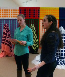 Eliza Pyne and Irem Ikizler intern Gallery Talk 2