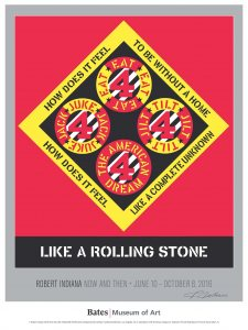 Robert Indiana Poster LIKE A ROLLING STONE