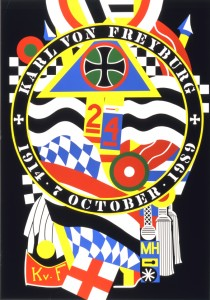 Robert Indiana, The Hartley Elegies, KVF I, 1990, silkscreen, 80 x 55 1/2 in., ed 11/12, Gift of the Artist