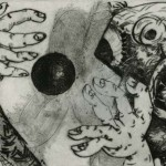 Bowery Suite #33, 1991, Drypoint with Chine Collé, 6 x 8 inches, Gift of Helena Starcevic